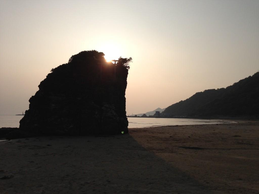 出雲稲佐の浜の夕日