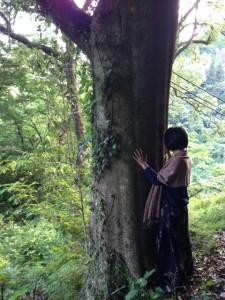 居心地ツアー:木を触る
